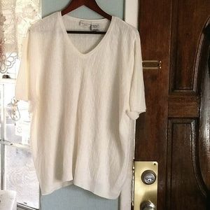White Stag Cream Color Sweater Blouse Sz 26W/28W